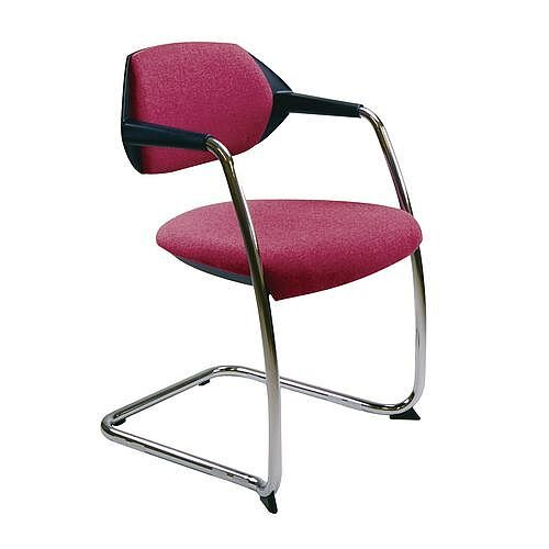 Flex Conference &Vistors Cantilever Chair Carnation Red