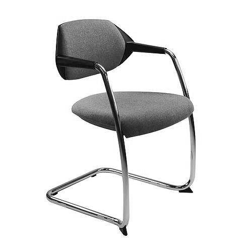 Flex Conference &Vistors Cantilever Chair Stone Grey