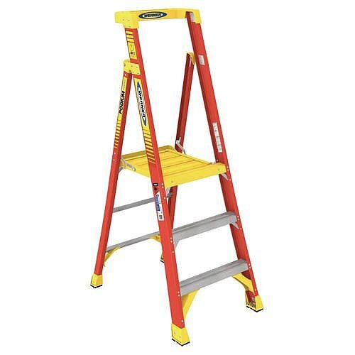 Podium Glassfibre 3 Tread Step ladder Height To Platform 0.71M Capacity 136Kg