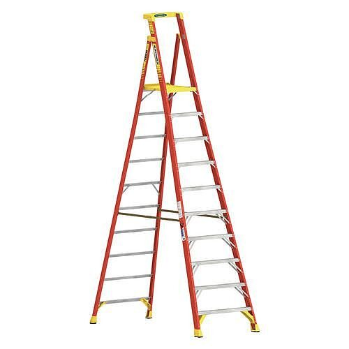 Podium Glassfibre 10 Tread Step ladder Height To Platform 3.05M Capacity 136Kg