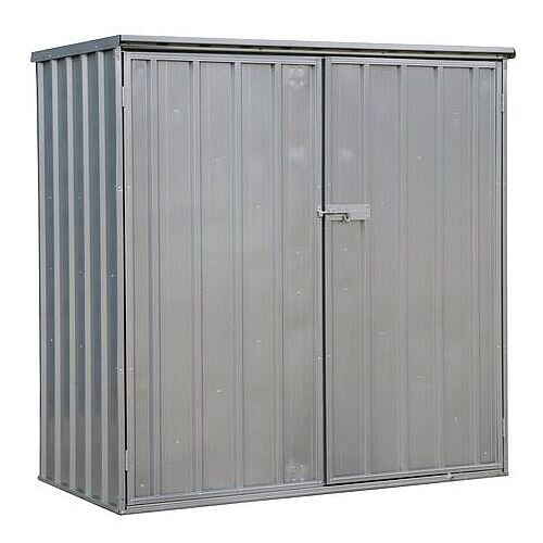 Galvanised Steel Shed Silver H x W x D mm: 1500 x 1500 x 800