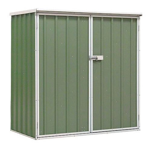 Galvanised Steel Shed Green H x W x D mm: 1500 x 1500 x 800