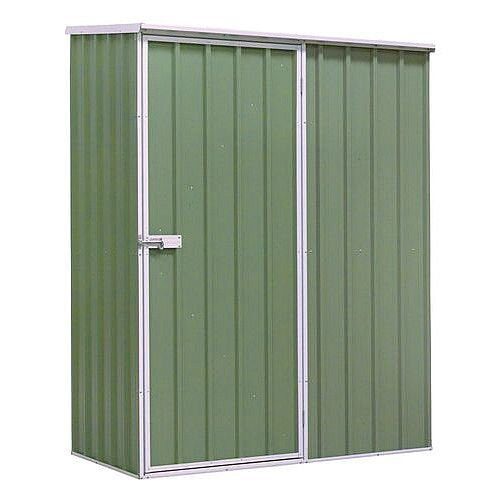 Galvanised Steel Shed Green H x W x D m: 1900 x 1500 x 800