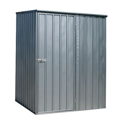 Galvanised Steel Shed Silver H x W x D - 1900 x 1500 x 1500mm