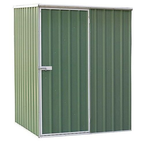 Galvanised Steel Shed Green H x W x D mm: 1900 x 1500 x 800