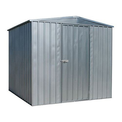 Galvanised Steel Shed Silver H x W x D mm: 1900 x 2300 x 2300
