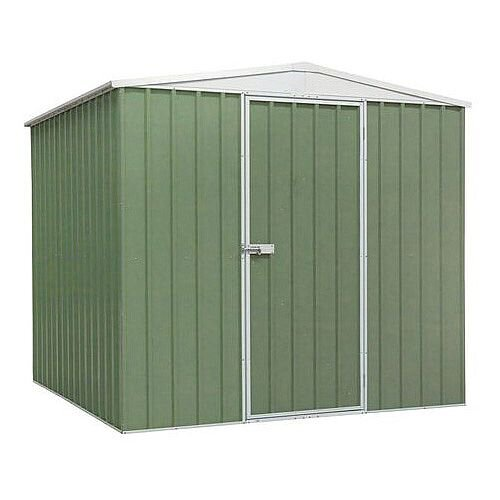 Galvanised Steel Shed Green H x W x D - 1900 x 2300 x 2300mm