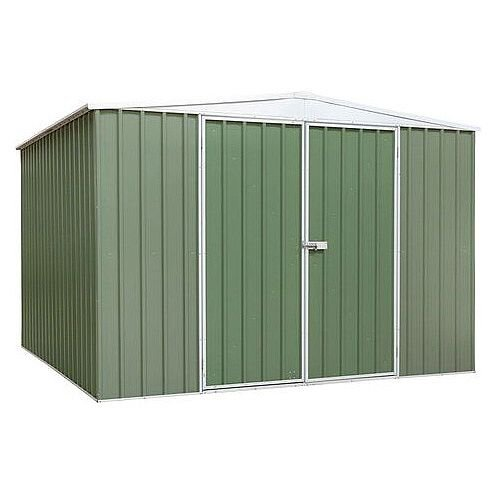 Galvanised Steel Shed Green H x W x D mm: 2100 x 2300 x 2300
