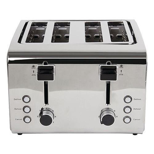 Stainless Steel Toaster 4 Slots