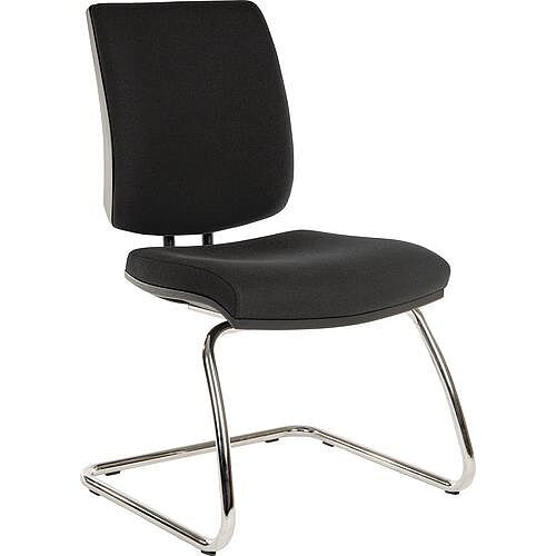 Premium Office Meeting &Visitor Chair Black Fabric