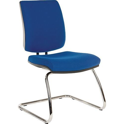 Premium Office Meeting &Visitor Chair Blue Fabric