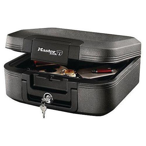 Masterlock 30 Min Fire Resistant Waterproof Chest 7.8L Grey