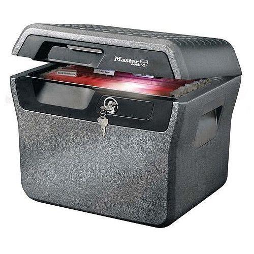 Masterlock 30 Min Fire Resistant Waterproof Chest 18,5L Grey