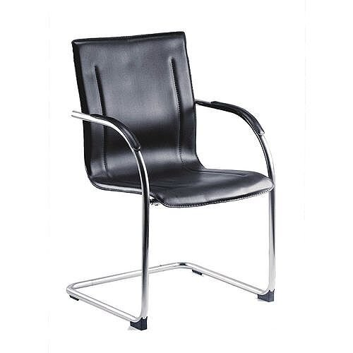 Cantilever Leather Visitor Chair