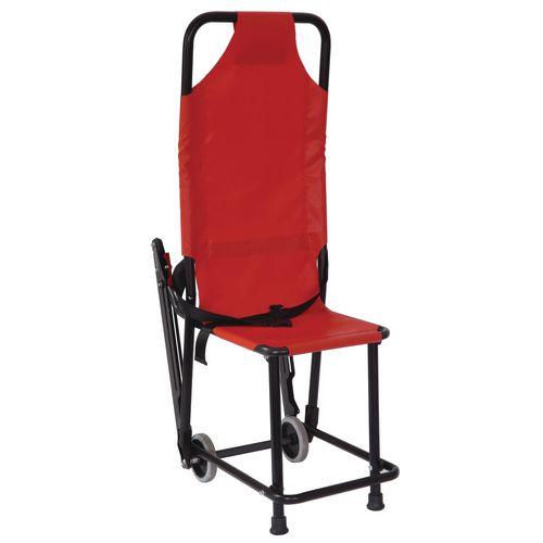 Basic Evacuation Chair Folded 2 Wheel 180kg Capacity Orange