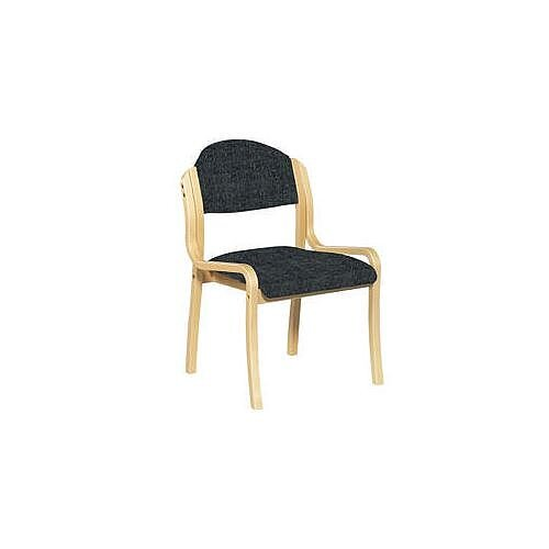Beech Frame Stacking Chair Black