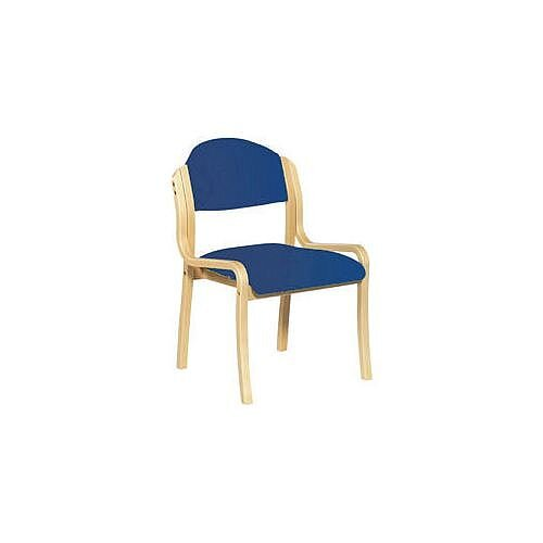 Beech Frame Stacking Chair Blue