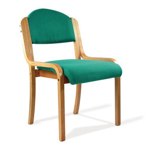Beech Frame Stacking Chair Aqua