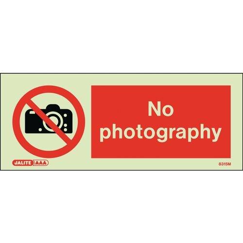 Photoluminescent Rigid Plastic Sign 200x80mm No Photography