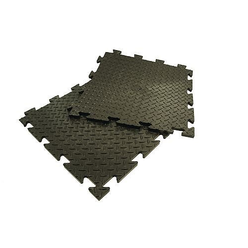 Heavy Duty Checker Plate Interlocking Floor Tiles Pack Of 16