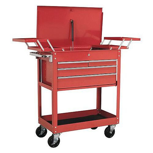 Trolley With Cantilever Trays