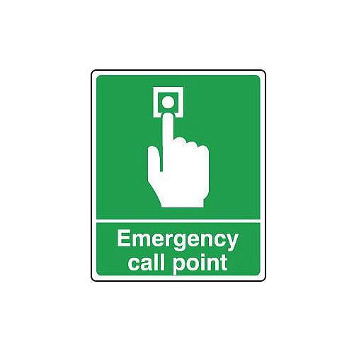 Self Adhesive Vinyl Emergency Call Point Sign H x W mm: 300 x 250
