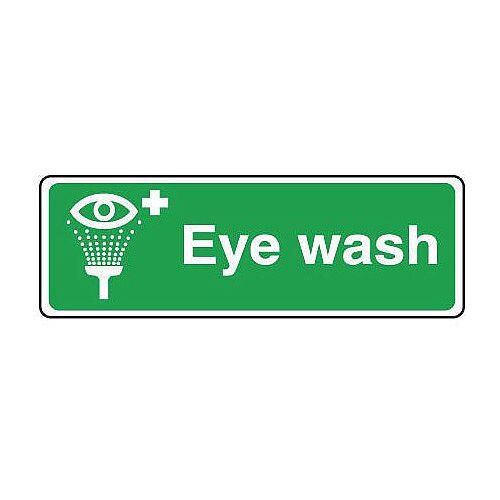 Self Adhesive Vinyl Safe Condition And First Aid Sign Eyewash Text, Pictorial And First Aid Sign