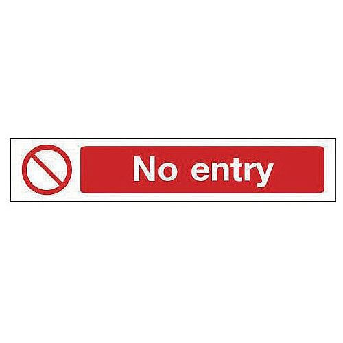 Self Adhesive Vinyl Overhead Prohibition Sign No Entry