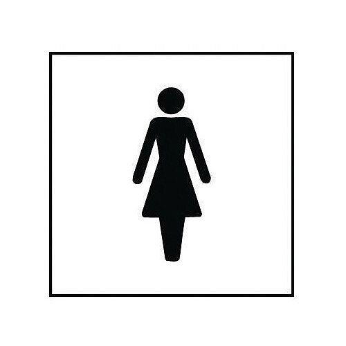 Self Adhesive Vinyl Information Sign Square Ladies Pictorial