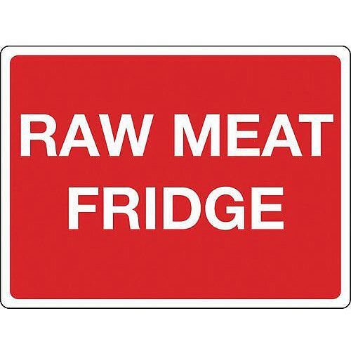 Self Adhesive Vinyl Colour Co-Ordinated Chopping Board &Storage Sign Raw Meat Fridge
