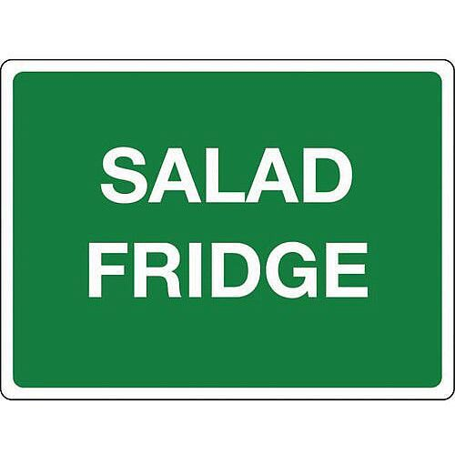 Self Adhesive Vinyl Colour Co-Ordinated Chopping Board &Storage Sign Salad Fridge