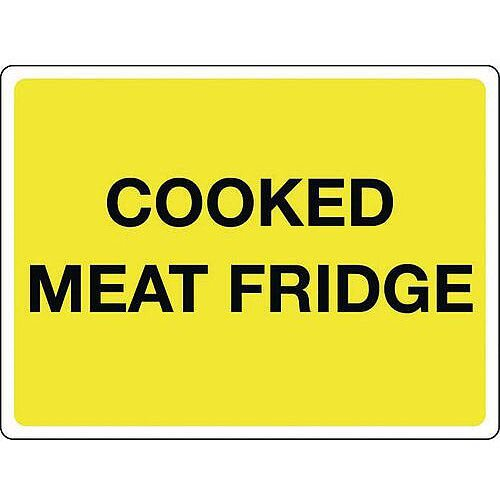 Self Adhesive Vinyl Colour Co-Ordinated Chopping Board &Storage Sign Cooked Meat Fridge