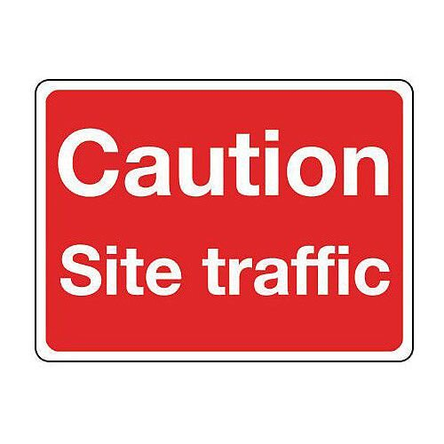 Reflective General Construction Sign Caution Site Traffic
