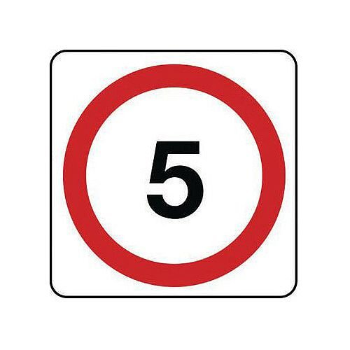 Reflective General Traffic Sign 5 Mph