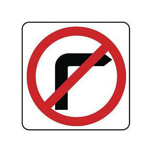 Reflective General Traffic Sign No Right Turn