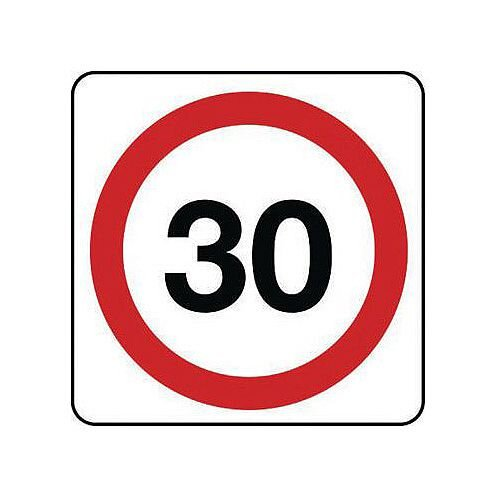 Reflective General Traffic Sign 30 Mph