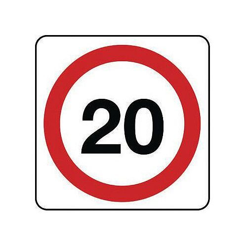 Reflective General Traffic Sign 20 Mph