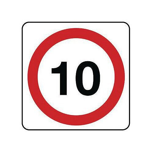 Reflective General Traffic Sign 10 Mph