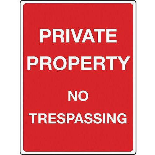 Sign Private Property Reflective 300x400