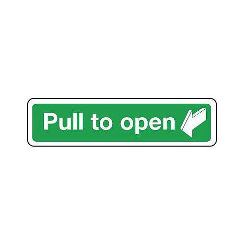 PVC Pull To Open Sign
