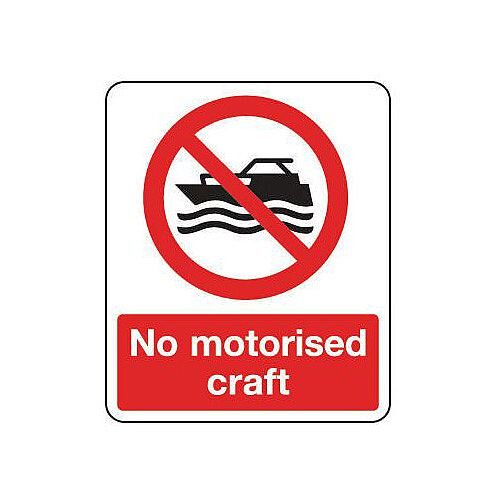 PVC National Water Safety Sign No Motorised Craft