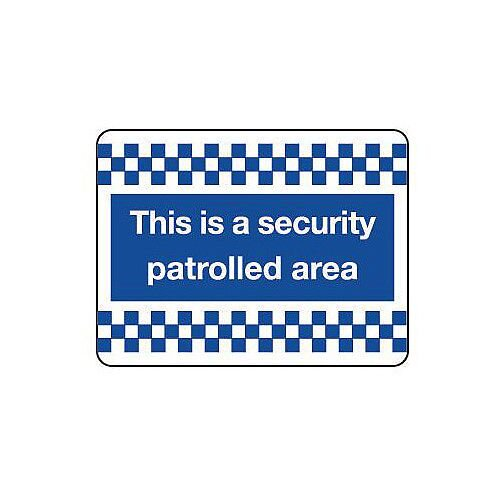 PVC Security &Cctv Sign This Is A Security Patrolled Area