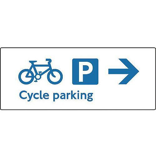 PVC Cycling Activities Sign Cycle Parking Right