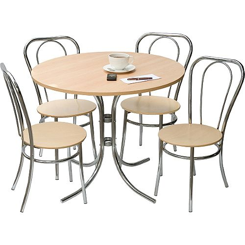 Bistro Deluxe Canteen Bundle Set - Table &4 Chairs