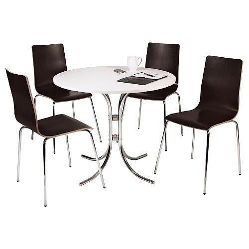 Loft Bistro Canteen Bundle Set Table &4 Chairs