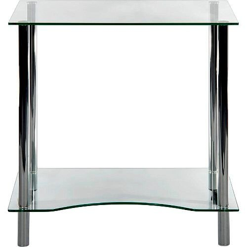 Modern Clear Glass Home Office Workstation Crystal