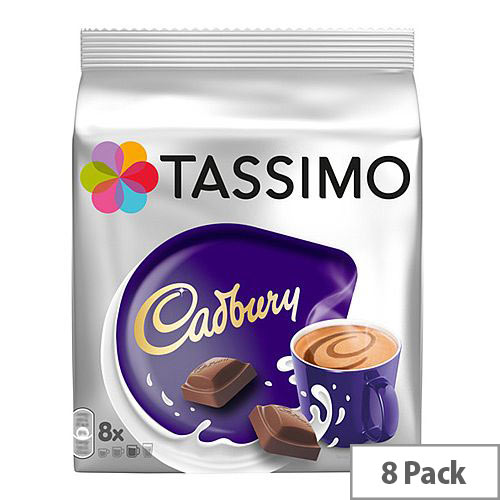 Tassimo T-Discs Cadbury Hot Chocolate (Pack of 8 Capsules) - Makes 8 Drinks