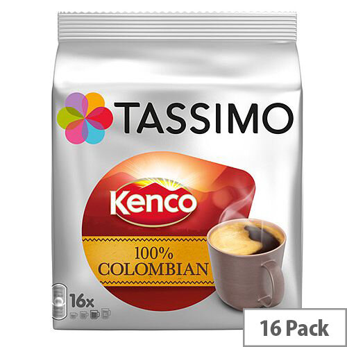 Tassimo T-Discs Kenco Columbian (Pack of 16 Capsules) - Makes 16 Drinks