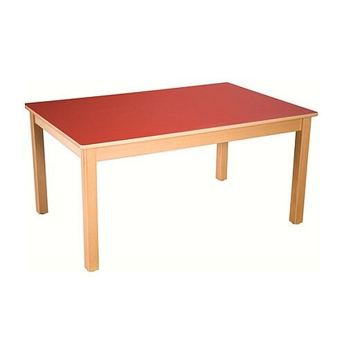 Rectangular Pre School Table Beech Red 120x60x40cm High TC04002