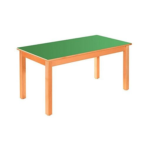 Rectangular Pre School Table Beech Green 120x60x52cm High TC05203